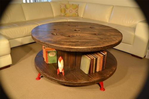 Cable Reel Coffee Table Industrial delight.