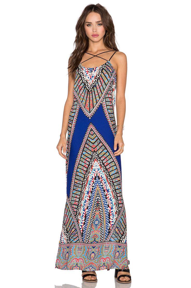 Greylin Fleur Maxi Dress in Cobalt Blue | REVOLVE