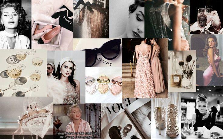 aesthetic collage desktop wallpaper hd