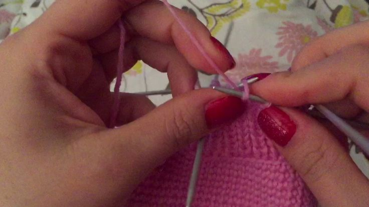 How to knit top of slipper - example