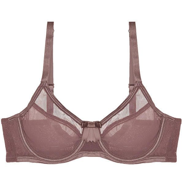Claudette Fishnet Scoop Neck Bra ($49) ❤ liked on Polyvore featuring intimates, bras, twilight, transparent strap bra, sheer lingerie, see through lingerie, adjustable bra and claudette