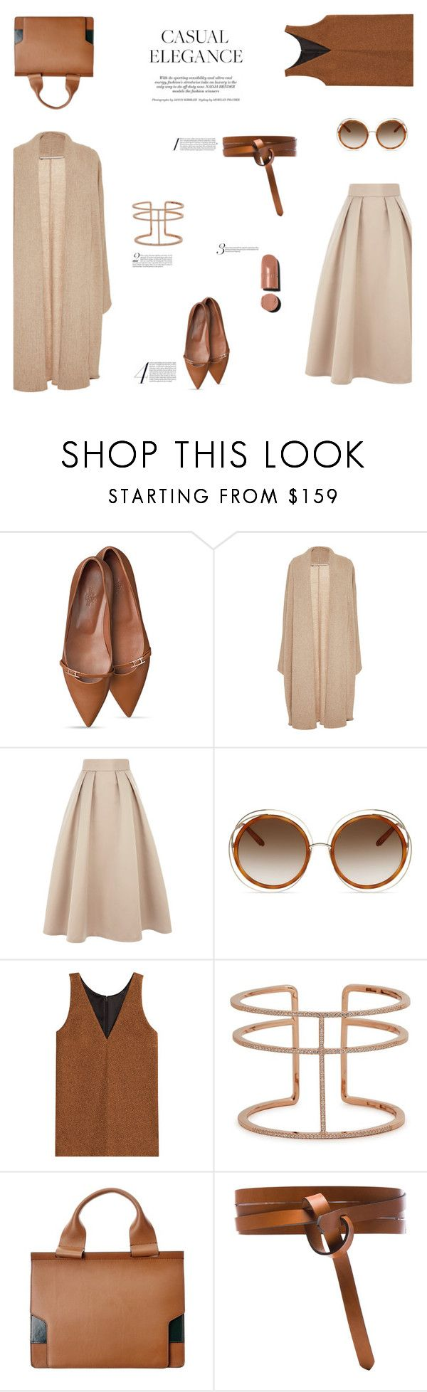 """""""CASUAL ELEGANCE"""" by canvas-moods ❤ liked on Polyvore featuring Rosetta Getty, Coast, Chloé, Isa Arfen, APM Monaco, Marni, Isabel Marant, Chanel, Elegant and Luxe"""