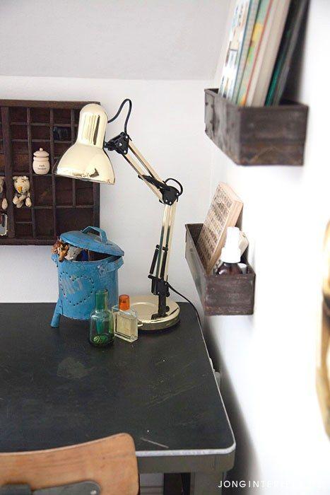 Jongenskamer Robot Boysroom bureau, letterbak. Ontwerp en styling jonginterieur.nl