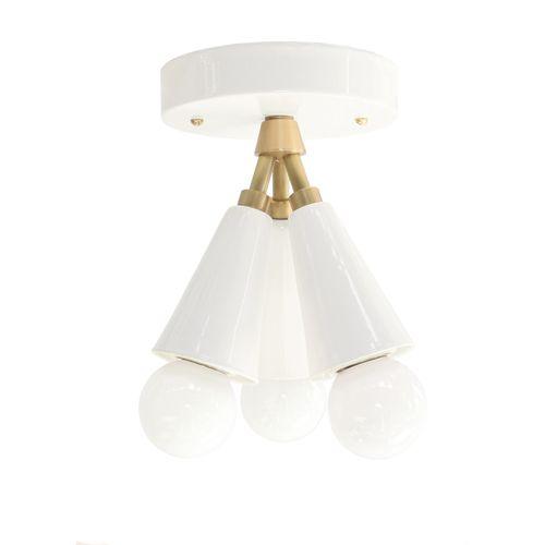 Cedar & Moss Spectra Light in White + Brass