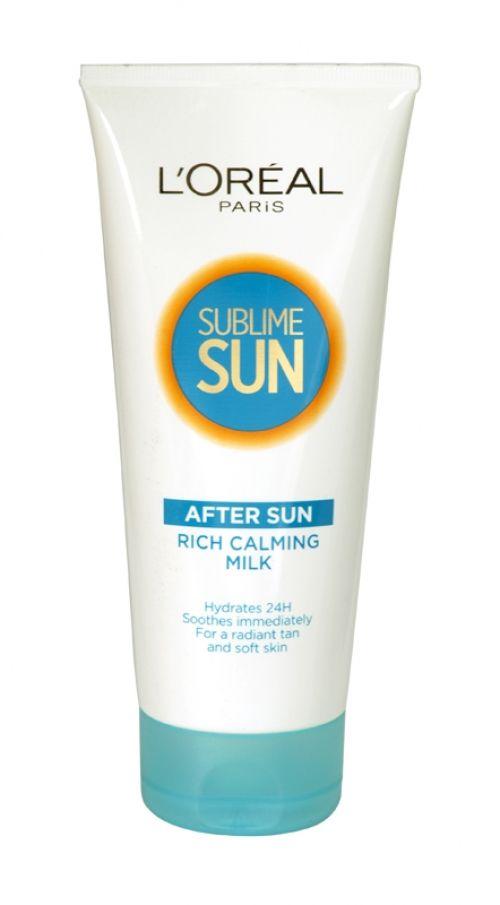 Loreal sublime sun rich calming milk after sun 200ml tube