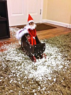 Fun way to have your Elf on the Shelf arrive