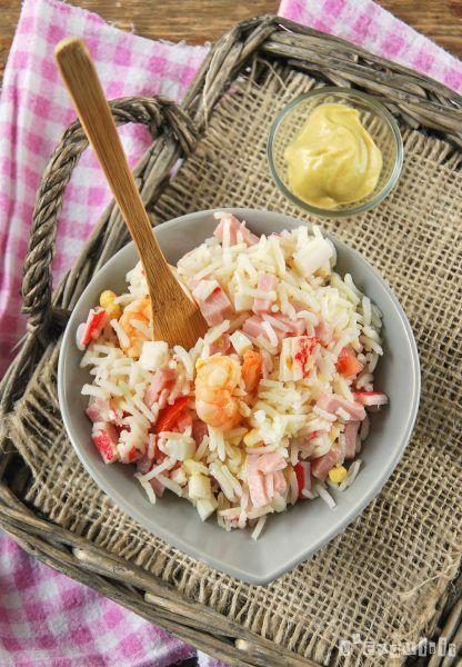 Ensalada de arroz con aliño de mostaza
