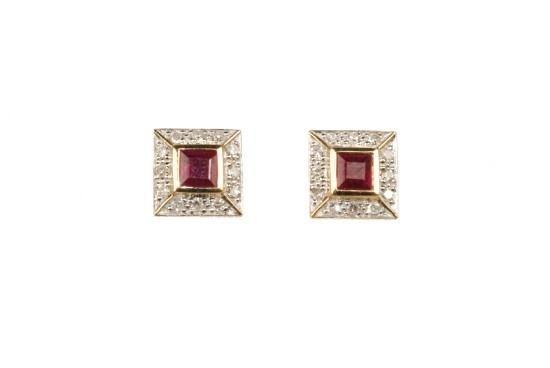 Ruby & Diamond Earrings - Nazar's Fine Jewelry