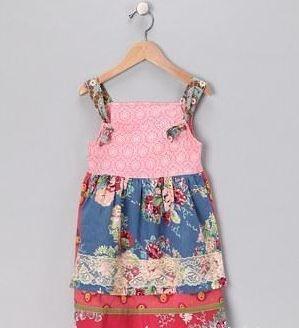 Jane sparkletown holiday christmas apron knot dress nwt girls