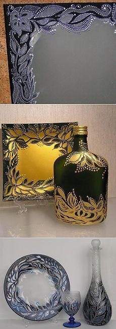 & quot; Richelieu & quot;  glass (acrylic lace) - Fair Masters - handmade, handmade