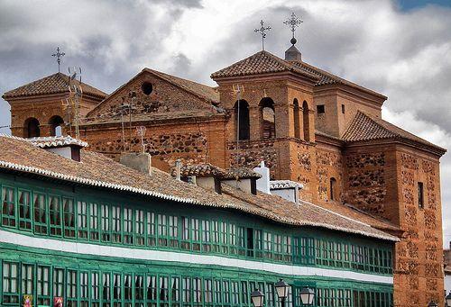 PLAZA MAYOR DE ALMAGRO, CIUDAD REAL, LA MANCHA, SPAIN,