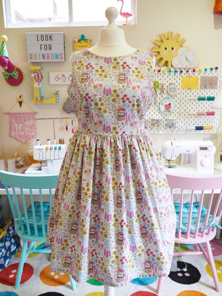 Made to Order Gnome Garden Dress - Ladies Handmade Dress