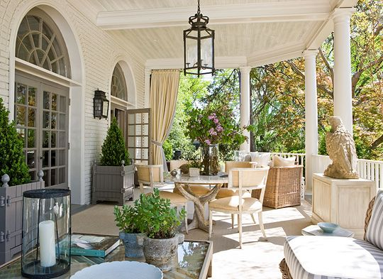 Pretty Porches and Terraces: Decor, Ideas, Houses, Outdoor Living, Outdoor Patio, Southern Porches, Gardens, Outdoor Spaces, Front Porches