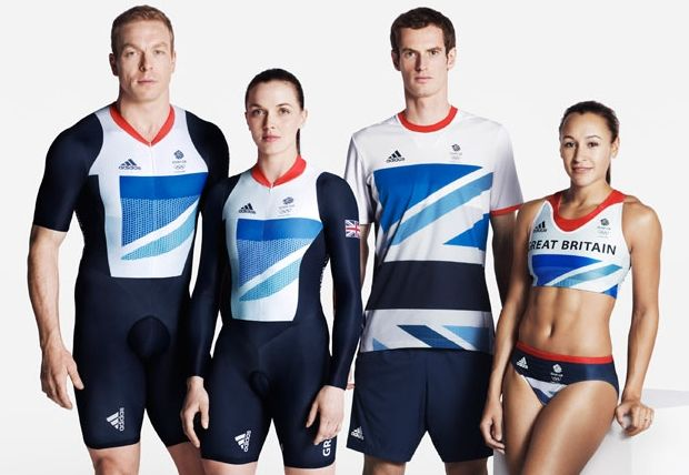 Stella McCartney's Adidas Gear for the British Olympic Team. Complete with performance sensors built into the sports bra.