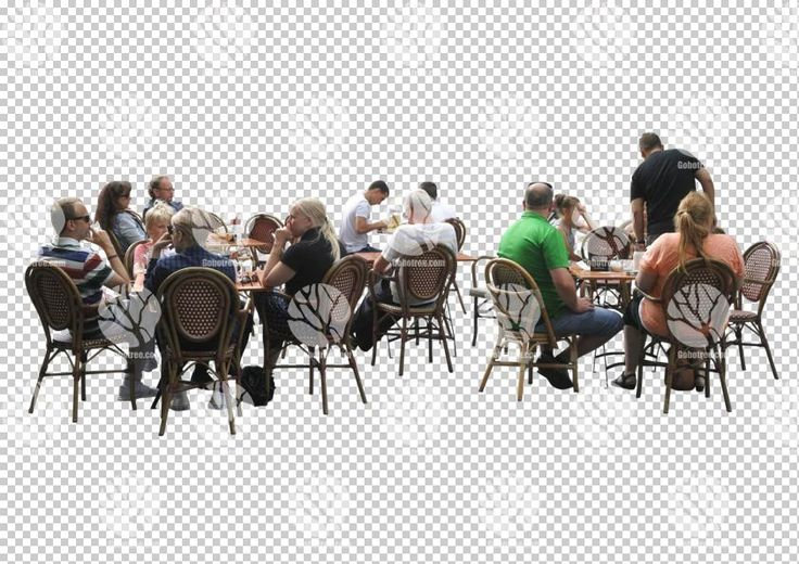 People in restaurant cutout for 14.6.2016 by Gobotree