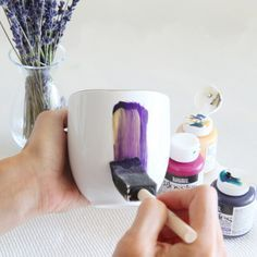 380 best DIY Glass paintingMug painting ideas images on