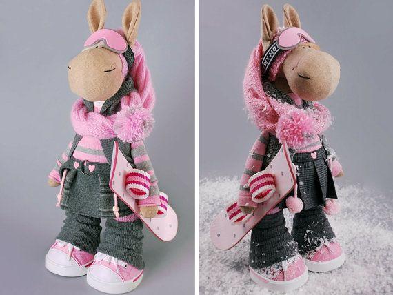 Horse doll Tilda doll Interior doll Art doll por AnnKirillartPlace