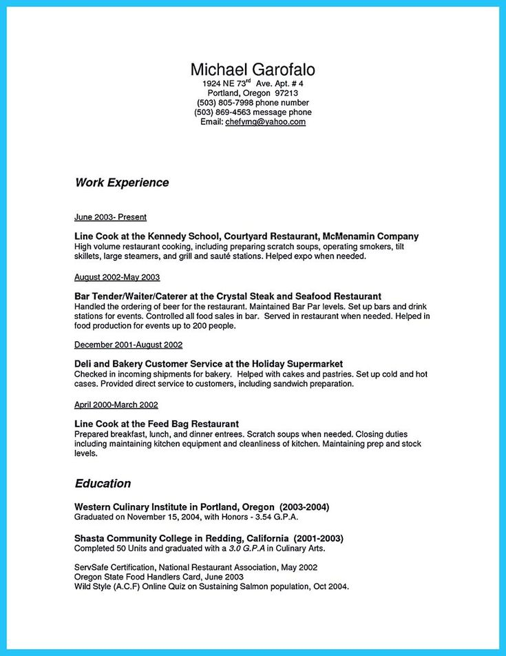 Cook Job Description For Resume Amazing 23 Best Resume Cover Letter Images On Pinterest  Resume Tips .