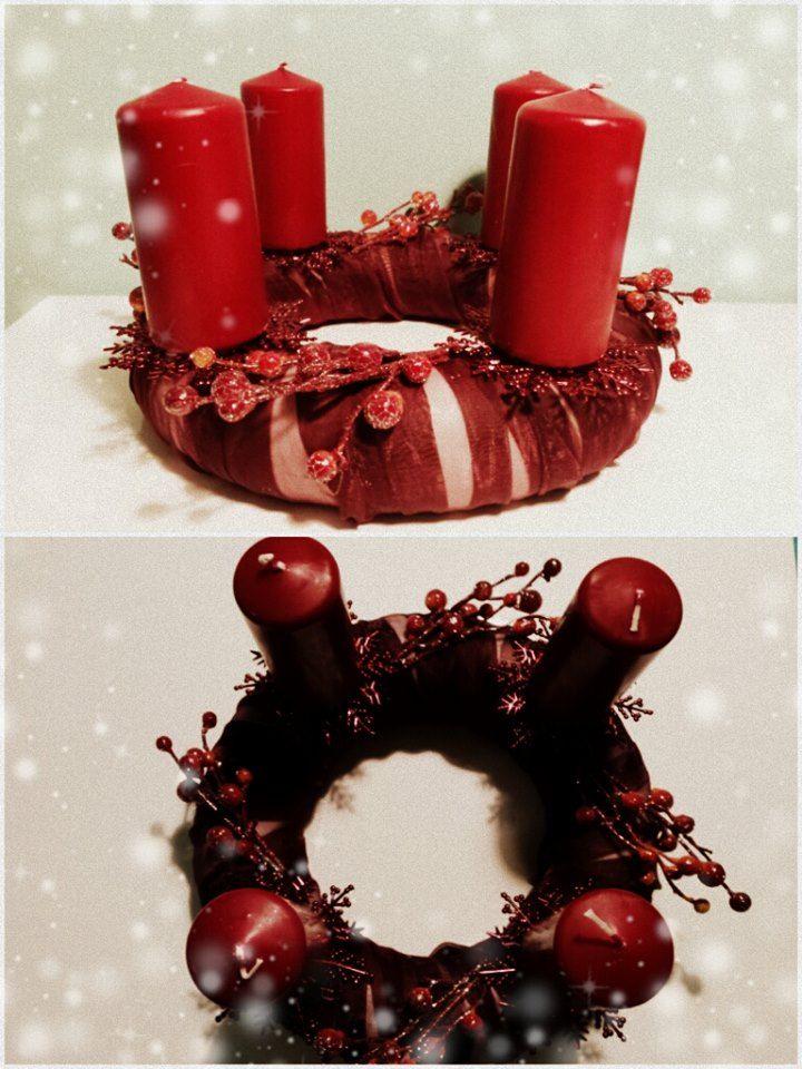 "Adventní věnec ""Red velvet"" (Advent wreath ""Red velvet"")"