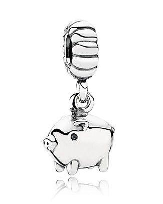 PANDORA Charm - Sterling Silver Piggy | Bloomingdale's