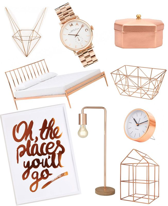 23 Best Copper And Blush Home Decor Ideas And Designs For 2019: All Aboard The Copper Trend Train / Permanent