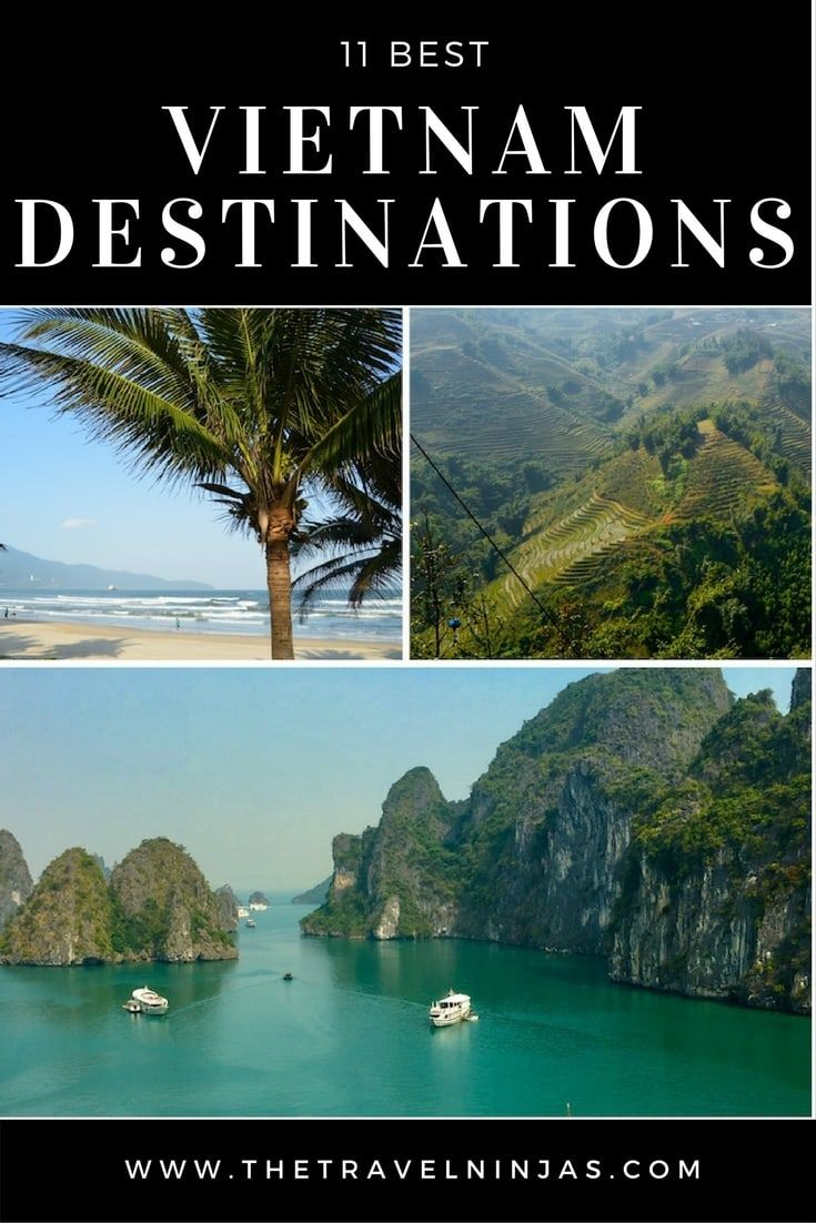 Read about the best Vietnam destinations we've found after more than a year in Vietnam. Learn why to visit, when to visit, and how long to stay. via @thetravelninjas
