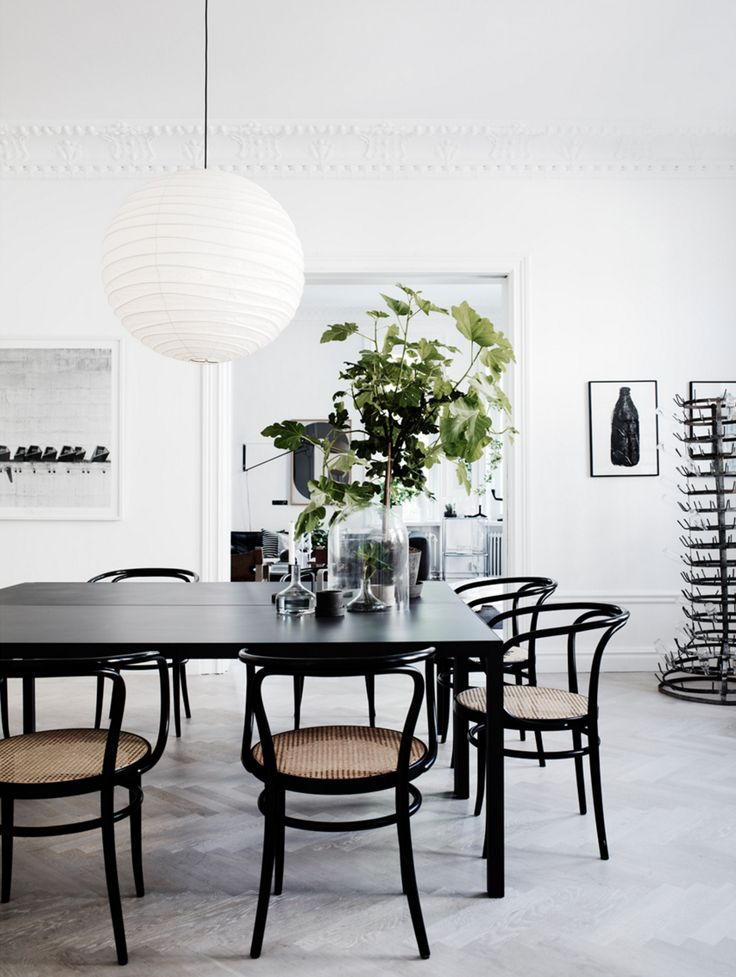 Inspiring Spaces via A House in the Hills. Black dining table