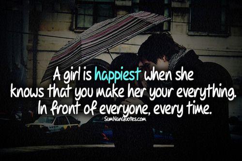girl boy cute couple kiss hugg rain sweet quote happy