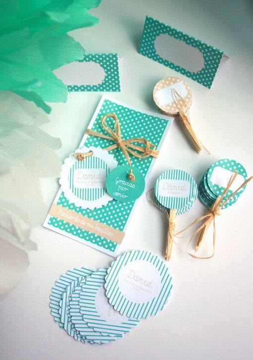 Papelería y decoración para candybar