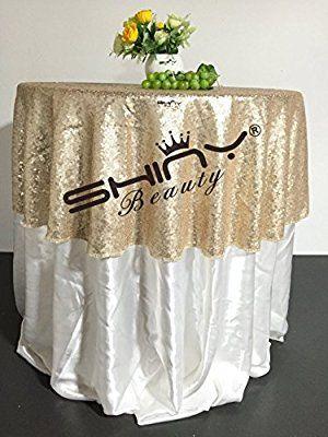 Champagner 48 In Pailletten Tischdecke glitzernden einfache Tischdecke wunderschön und Luxus-Tischdecke für Tisch Hochzeit/Party/EVENT/Dekor