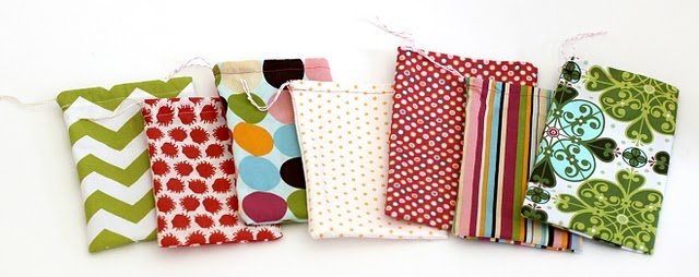 Simple drawstring fabric bags... You can never have enough!
