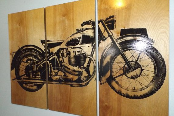 Vintage Ariel Square Four 1949  Motorcycle Screen by CedarWorkshop, $119.00