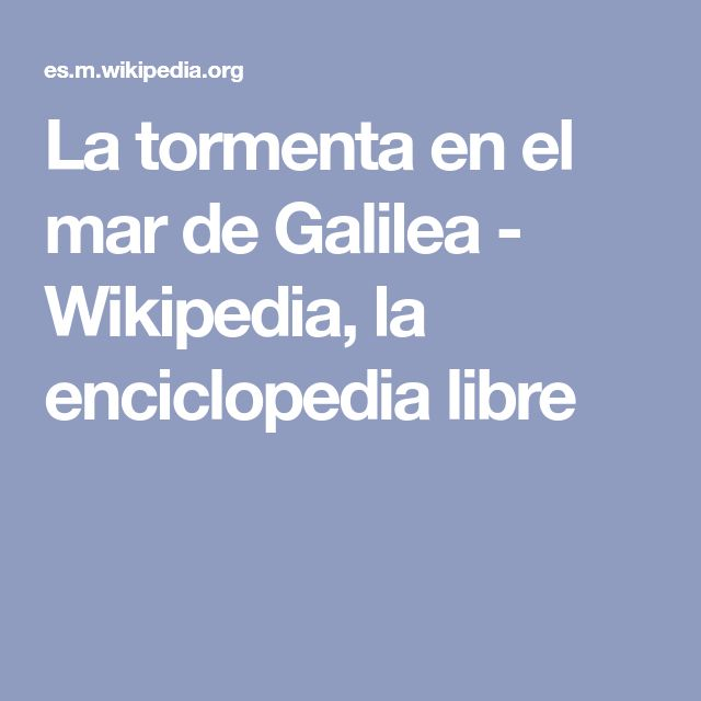 31 best tabla periodica de los elementos images on pinterest la tormenta en el mar de galilea wikipedia la enciclopedia libre urtaz Choice Image