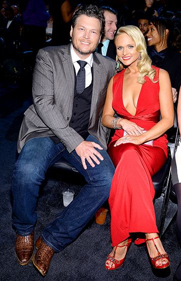 Damn, Miranda! Blake Shelton cuddled with sexier-than-ever wife Miranda Lambert in the audience inside L.A.'s Staples Center at the Grammy Awards Jan. 26. 2014