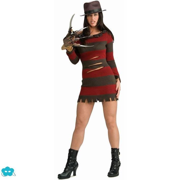 Disfraz de Freddy Krueger sexy para mujer