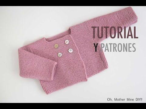 DIY Cómo hacer rebeca de lana para bebés | Manualidades