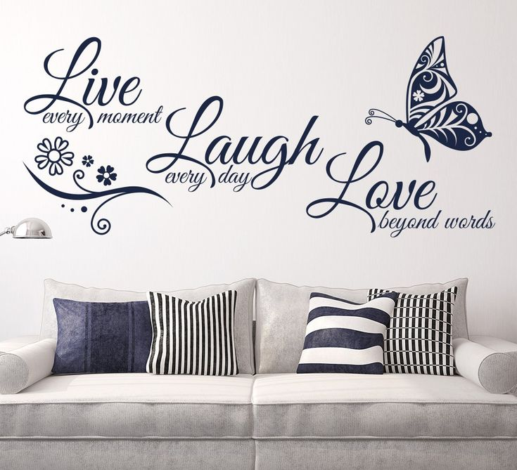 Live love laugh wall sticker with butterfly design stickers quotes parkins interiors best free home design idea inspiration