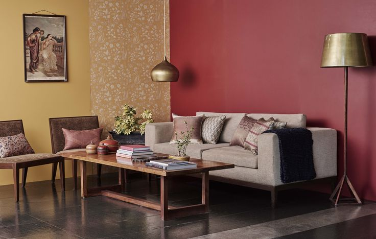 We aspire for authentic, looking back to the past as much as looking forward to the future for experiences that are unaffected by trends and seasons.  Asian Paints colours: Madder Red CN16 and Grains of sand 7934