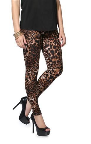 Brown Cheetah Print Leggings