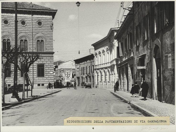 La sede della Banca #bancacarim #fotostoriche #riminisparita #rimini ( Concessione Biblioteca Gambalunga Rimini )