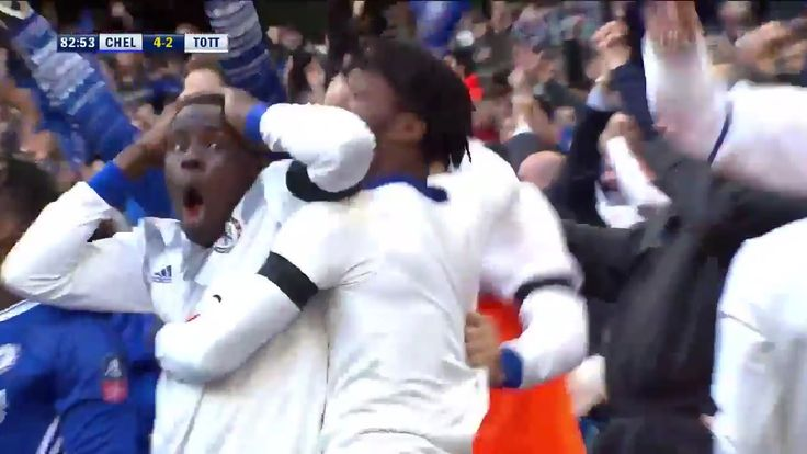 Nemanja Matić sealed a 4-2 win for Chelsea over Tottenham Hotspur in the FA Cup semifinal at Wembley with a thunderbolt, but it was Kurt Zouma's reaction which summed up the goal perfectly