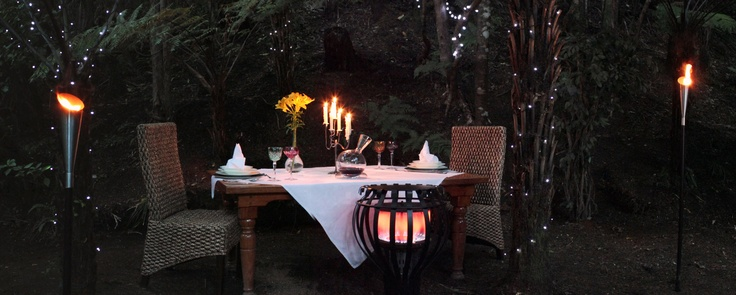 fine gourmet dining in the bush at Bushland Park Lodge