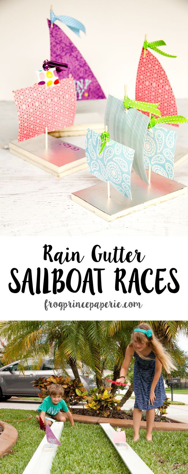 "A few years ago, my friend Nikki at Tikkido.com held a wonderfully styled ""Raingutter Regatta"" for her kids in the backyard. It was totally charming! Loved it! The idea of using rain gutters for racing has stuck with me, and I've used the idea for several school activities. What is really wonderful about this activity ...continue reading"