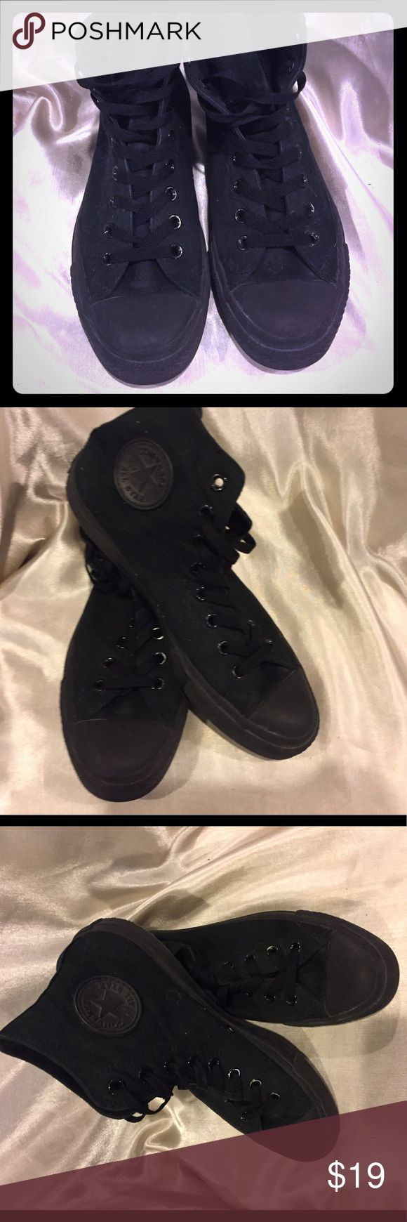 Converse Chuck Taylor Black Canvas Sneakers Size 8 Converse Black Canvas Chuck Taylors size 8 These shoes show signs of wear price reflects Converse Shoes Sneakers