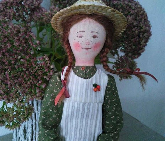 Art doll. Author's doll Anne of Green Gables.