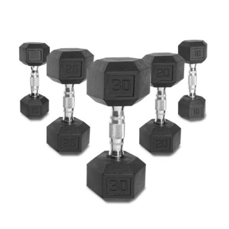 CAP Barbell Rubber Hex Dumbbell Set - SDRS-150