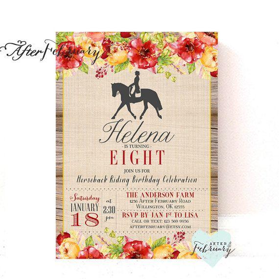 Fall Birthday Equestrian Derby Horseback Riding Birthday