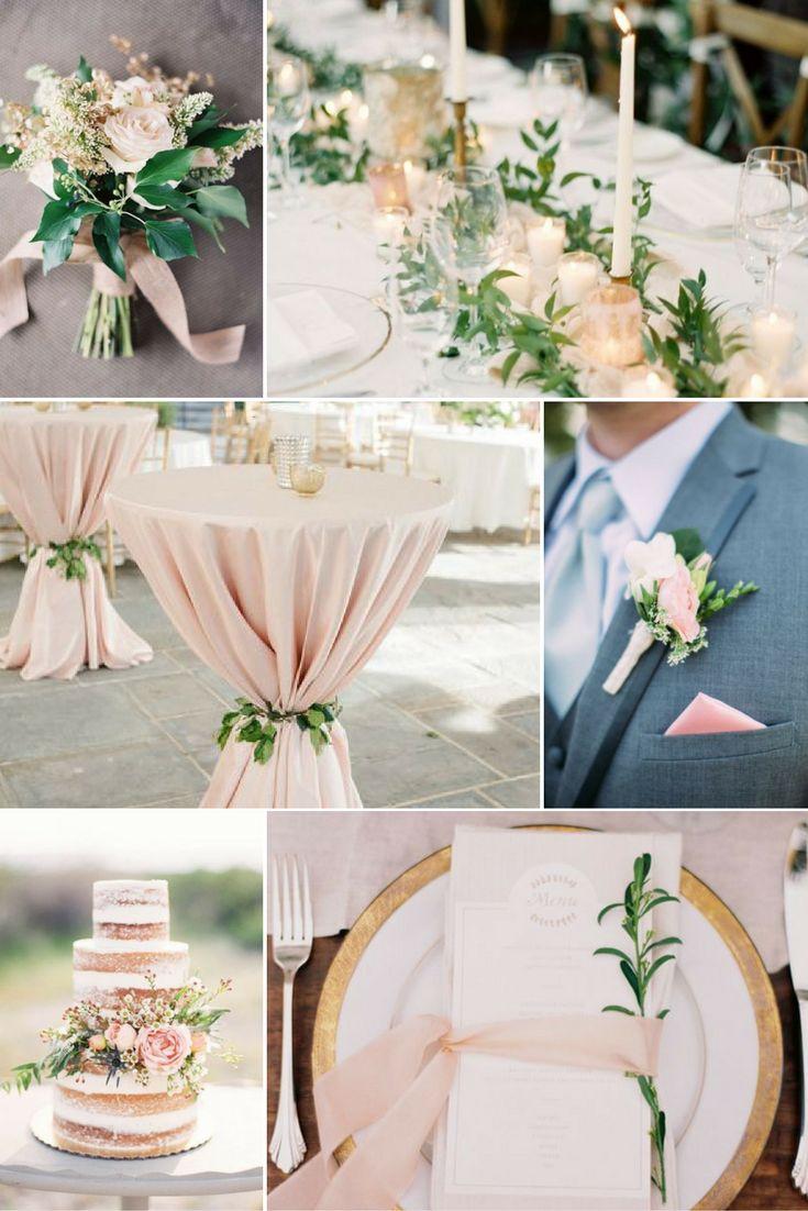 Púderrózsaszín és zöld | Esküvői színek 2017 - 15 trendi színkombinációt mutatunk a tökéletes esküvői dekorációhoz. Inspirálódj velünk!