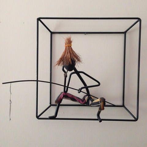 Fiskegubbe av Bror Bonfil . #femtiotal #brorbonfils #jaggårofiskar #danskdesign #string