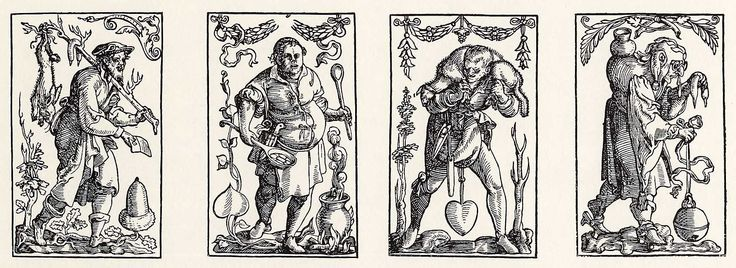 Artist: Flötner, Peter, Title: »Kartenspiel«, Unter, Date: ca. 1535